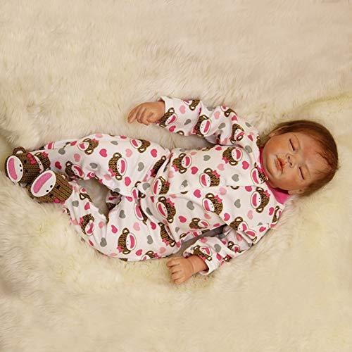Nicery B153 - Muñeca de bebé de silicona, suave simulación, 50 - 55 cm, regalo para amigos,...