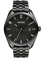 Nixon Damen-Armbanduhr Bullet All Black Analog Quarz Edelstahl A418001-00