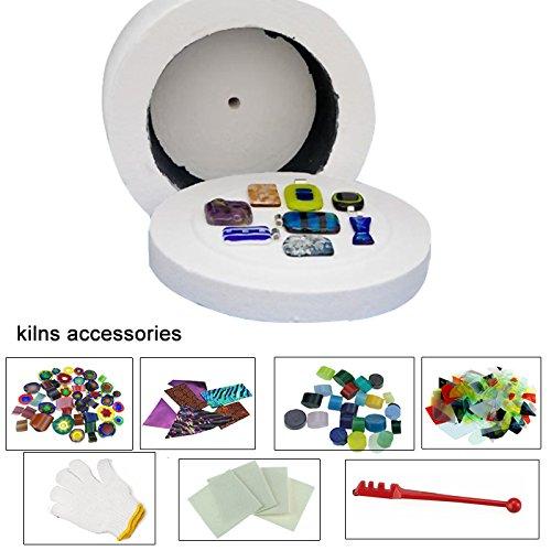 large-kiln-for-glass-fusing-8pcs-set-microwave-kiln-kit