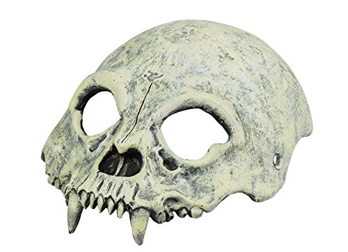 Halloweenia - Halloween Kostüm Halbe Skelett Maske Erwachsenen Maske, (Gold Wear Party Maske Halb)