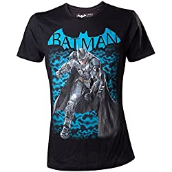 Meroncourt DC Comics Batman Arkham Knight Fighting Stance-Camiseta Hombre Negro Negro X-Large