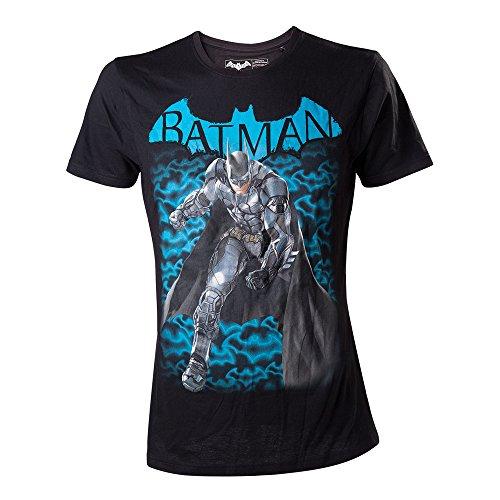 Meroncourt DC Comics Batman Arkham Knight Fighting Stance-camiseta Hombre Negro negro X-Large