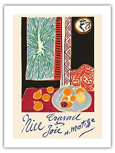 Antiquitäten Anzeigen (Nizza, Frankreich - Arbeit und Freude - Stillleben mit Granatapfel - Vintage Retro Welt Reise Plakat Poster von Henri Matisse c.1948 - Premium 290gsm Giclée Kunstdruck - 46cm x 61cm)