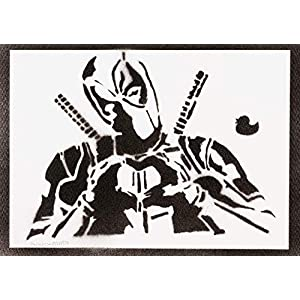 Deadpool Poster Plakat Handmade Graffiti Street Art - Artwork