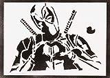 Poster Deadpool Handmade Graffiti Street Art - Artwork