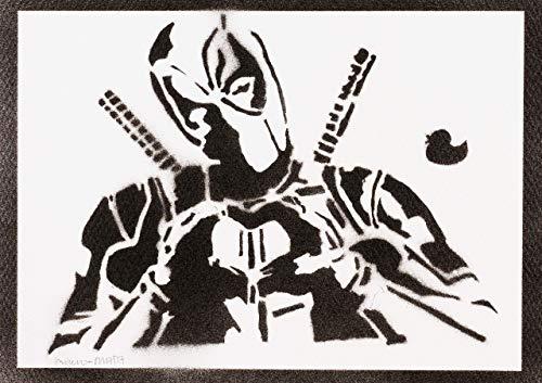 Póster Deadpool Masacre Grafiti Hecho A Mano - Handmade