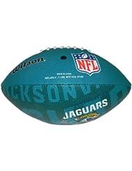Wilson Football NFL Junior Jacksonville Jaguars Logo - Balón de fútbol americano ( infantil, caucho ) , color multicolor, talla 5