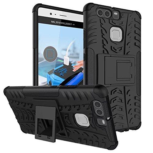 Dooki, Huawei P9 Custodia, Stare in Piedi Ruvido Robusto Forte