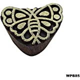 Elegantes Diseños De Bloques De Madera Frontera De La Mariposa Sellos De Impresión Textil Indio Modelo Exclusivo Talladas A Mano Del Libro De Recuerdos Proyectos De Bricolaje Para El Tatuaje De Arcilla Decorativa