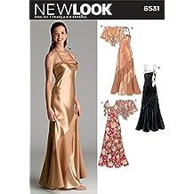 New Look Sewing Pattern 6531 patrones de costura para vestidos de fiesta, patrones e instrucciones