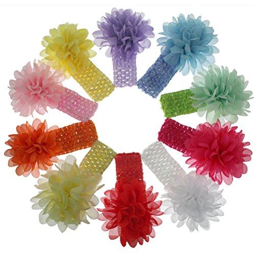 HBF 10 stk mehrfarbig Haarspange Haarband gepunktet Accessoire Fliege Schleife mit Blumen Deko für Kinder Mädchen verschiedene Farben und (Und Diy Einfache Schnelle Kostüme)