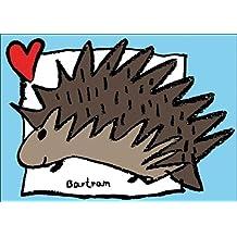 Romantische Liebeskarte mit Tiermotiv: Der Igel mit Herz auch als Valentinskarte • auch zum direkt Versenden mit ihrem persönlichen Text als Einleger.
