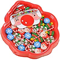30 Teile/schachtel Kreative Weihnachten Radiergummi Set Geschenk Dekoration kinder Schreibwaren