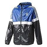 Giacca A Vento adidas – J Trf Fl Wb blu/bianco/nero formato: 123-128 cm di altezza - da 7 a 8 anni