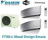 Daikin Bisplit inverter reversible 2MXS50H 2 FTXSG25LS offerta 2 carte WIFI