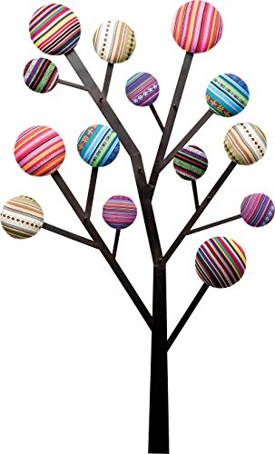 Kare Bubble Tree Garderobe, Metall, Bunt, 6.5 x 65 x 111 cm