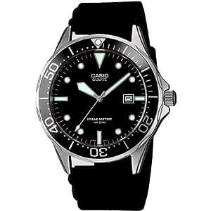 Casio - MTD-1051D-8AVEF - Montre Homme - Quartz Analogique - Dateur - Bracelet Caoutchouc Noir