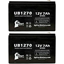 2x unidades–Repuesto para APC Smart-UPS 5000VA RM 5U SU5000R5TBX120batería–repuesto Universal UB1270sellada Batería de plomo ácido (12V, 7Ah, 7000mAh, F1Terminal, AGM, SLA)–incluye 4adaptadores de terminal F1para F2