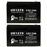 2x Pack–Ersatz APC BACKUPS 420BP420–Ersatz ub1270Universal versiegelte Blei-Säure-Batterie Batterie (12V, 7AH, 7000mAh, F1Terminal, AGM, SLA)–inkl. 4F1zu F2Terminal Adapter