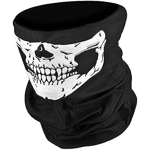 Whatwears Pasamontañas con calavera fantasma para motociclista y disfraz de COD