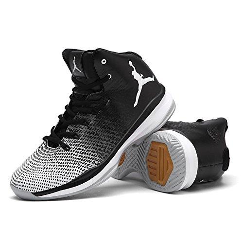 HUAN 2018 Nouvelles Chaussures de Basket-Ball de Printemps Chaussures de Basket-Ball D'Automne Haut-Bas Sneakers Anti-Dérapant Résistant à L'Usure (Color : B, Taille : 37)
