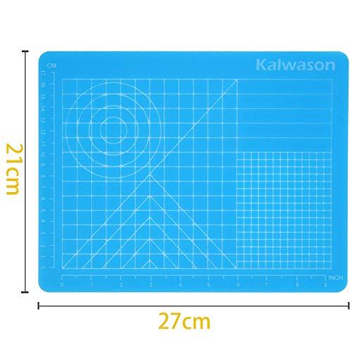 3d Stifte Silikon matte, 3d Stifte Zubehörteil 27 * 21.5cm Durchscheinend Blau Zeichenwerkzeug mit Basisvorlagen für Kind und Anfänger -