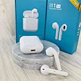 Fastcraze i11 5.0 True Wireless Earphone with Portable Charging Case for Android/iOS Devices with Sensor. (White)