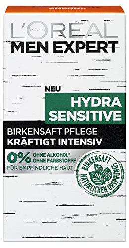 L'Oreal Men Expert Hydra Sensitive Feuchtigkeitspflege mit Birkensaft für empfindliche Haut (2 x 50...