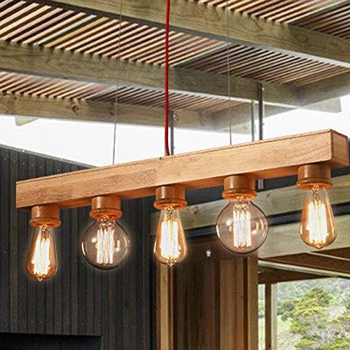 Holz-kronleuchter (HUA-Kronleuchter, Kreativ Persönlichkeit Shop Holz Kronleuchter Nordic Kronleuchter Designer Lichter Restaurant Bar Holz Holz Kronleuchter Tintenbrunnen 5)