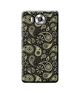 Be Awara Abstract Old Floral Design Mobile Phone Case Back Cover for Nokia Lumia 950