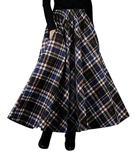 Zum Shop · BININBOX Damen Kleid Falten Rock Woll Rock Tellerrock Lange  Verdichter Rock Herbst Winter Skirt e4fe8a595e