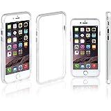 Xcessor Classic Bumper Étui Coque Housse Pour Apple iPhone 7. Caoutchouc et Plastique. Blanc / Transparent