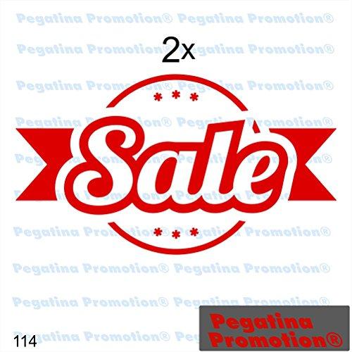 """Preisvergleich Produktbild 2er Set Aufkleber """"SALE"""" Prozente Schaufenster Reduziert Ausverkauf Schlussverkauf WSV SSV Typ 1ca. 60 cm Aufkleber Sticker Schaufensterwerbung Werbung Deko von Pegatina Promotion ®"""