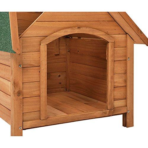 """Hundehütte / Hundehaus """"Rocky"""" mit aufklappbarem Bitumendach und erhöhtem Boden 71 × 88 × 83cm - 5"""