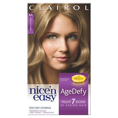 Clairol Nice'n Easy AgeDefy Permanent Colour 8A Medium Ash Blonde (1kit) (Clairol Medium Blonde)