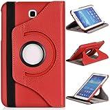 DONZO Wallet Structure 360 Tablet Tasche für Samsung Galaxy Tab 3 P3200 P3210 Rot