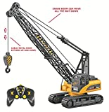 Top Race 15 canales grúa de control remoto profesional, grúa de juguete de construcción con luces y sonido (TR-214)