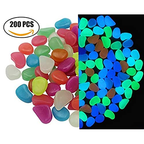 Coloured Stones For Gardens Coloured stones for gardens amazon glow in the dark pebbles man made decorative mixed colored stone luminous cobblestone for garden walkway fish tanks 200 pieces workwithnaturefo