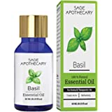 Sage Apothecary 100% Pure & Natural Basil Essential Oil is Like Boon for All Skin & Hair Related Problem | Provides Relief fr