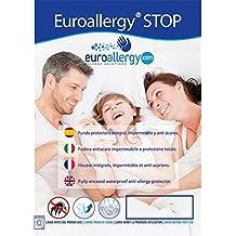 Euroallergy Funda Stop para colchón: Impermeable, Transpirable, antialérgica y Anti-ácaros (