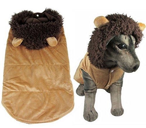Labrador Ideen Kostüm (ranphy Puppy Kleidung für mittlere Doggy Schlafanzüge Hund Löwe Kostüm Winter Mantel Mit Kapuze Haustier)