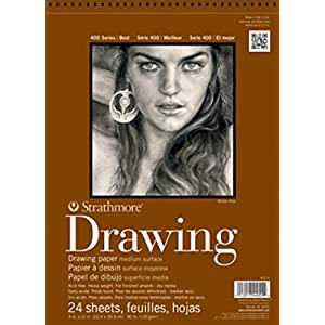 Pro-Art Bilderpalette Papier Strathmore spirale dessin Taille moyenne pad 28x 35,5cm, 24feuilles