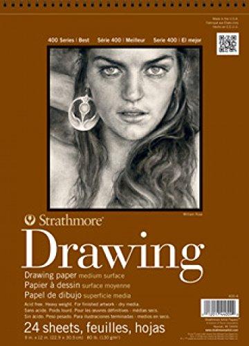 Strathmore 400Series Zeichenblock, mittlere Oberfläche, 10,2x 15,2cm Bound, 24Blatt