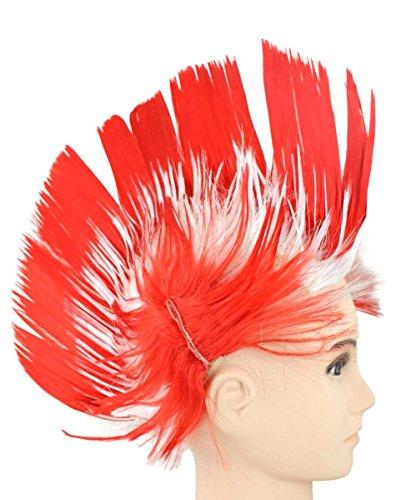 Sonia Originelli Perücke Irokese IRO Kopfbedeckung WM EM Fan Party Fasching Karneval Farbe Türkei