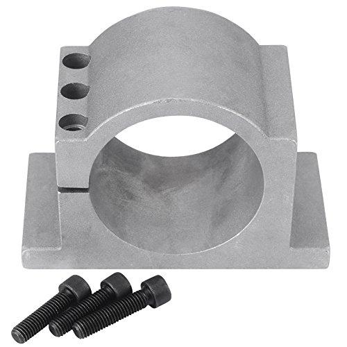 Soporte de motor, 80/100 mm de diámetro Eje de aluminio CNC Eje de montaje del motor Abrazadera con tornillos para máquina de grabado CNC Millng(80mm)