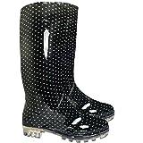 Damen Gummistiefel für Schnee und Regen und fürs Festival- Größe: 41 EU/8 UK,BLACKSPOT