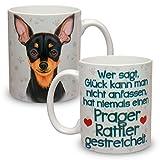 Kaffeebecher mit Motiv Hund Große XXL Tasse Prager Rattler