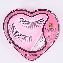 Majik Combo Of Charming Eyelashes With Glue / Eyelashes For Eye Makeup Girls