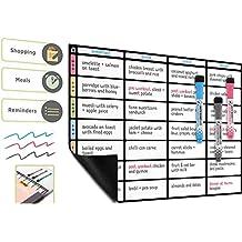 Genie magneti e ganci per parete 57 x 37 cm cancellabile con marcatori Planning magnetico settimanale e lavagna per pianificazione settimanale