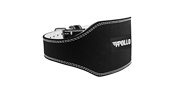 Apollo Leather Weight Lifting Belt /• Comfortable /& Durable /• Great for Bodybuilding I Power-lifting I Functional Training